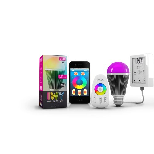 2 x wlan led lampe iwy master rgb wifi farbwechsel birne mit wei e27 dimmbar 7 5w smartphony. Black Bedroom Furniture Sets. Home Design Ideas