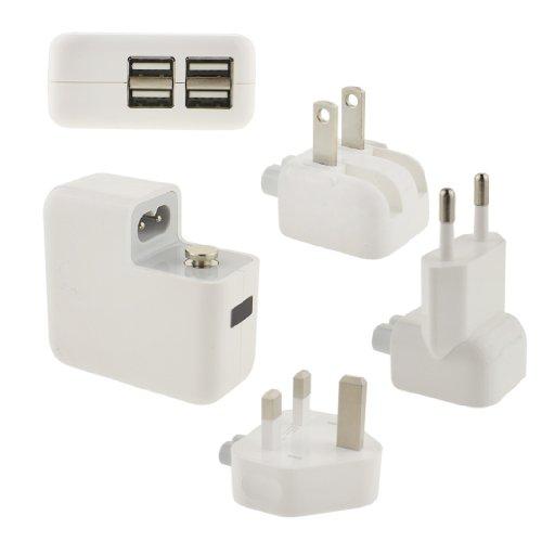Wei Farbe: Ancerson Universal-Ladegerät-Set USB-Reiseladegerät, Reise