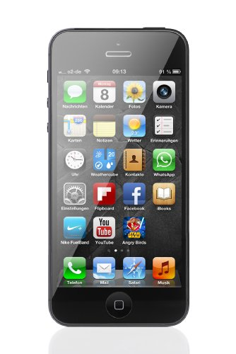 apple iphone 5 smartphone 4 zoll 10 2 cm touch display 16 gb speicher ios 6 schwarz. Black Bedroom Furniture Sets. Home Design Ideas