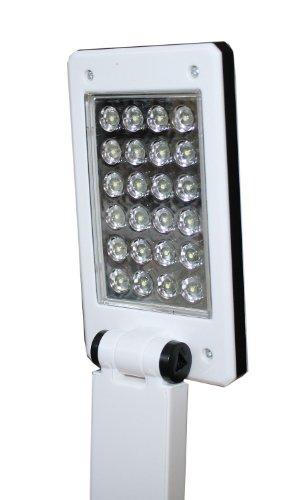 foxy led schreibtischlampe mit usb anschluss oder f r batteriebetrieb 24 leds 3. Black Bedroom Furniture Sets. Home Design Ideas