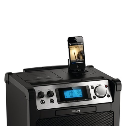 philips azp6 12 portabler lautsprecher mit dockingstation f r ipod iphone verst rker funktion. Black Bedroom Furniture Sets. Home Design Ideas