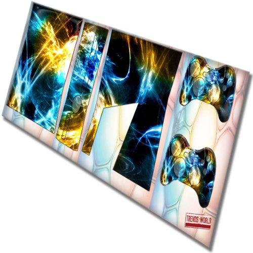 modern designfolie sticker skin aufkleber schutzfolie mit farbenfrohem design f r xbox 360 slim. Black Bedroom Furniture Sets. Home Design Ideas